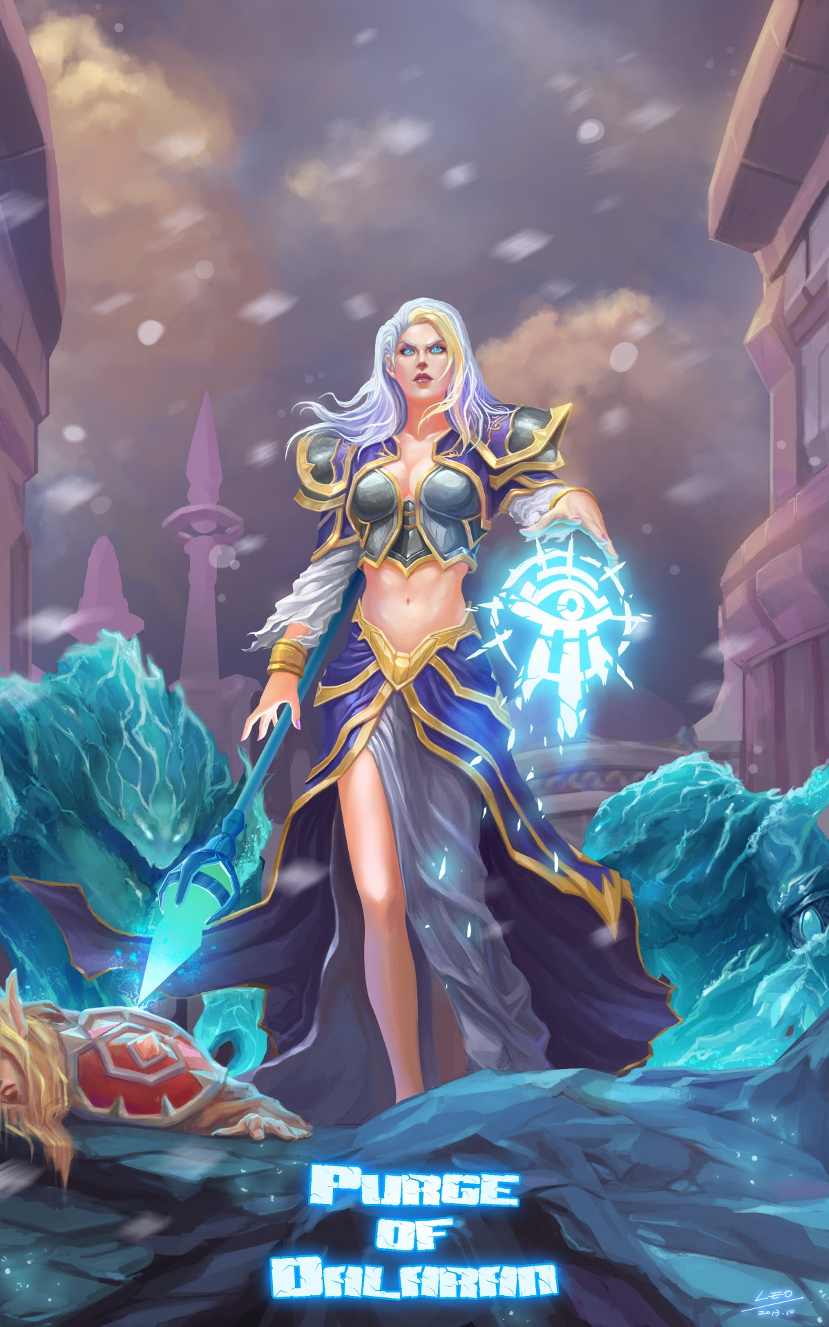 Download sleeping Lady Sylvanas and Jaina Proudmoore  naked thumbs